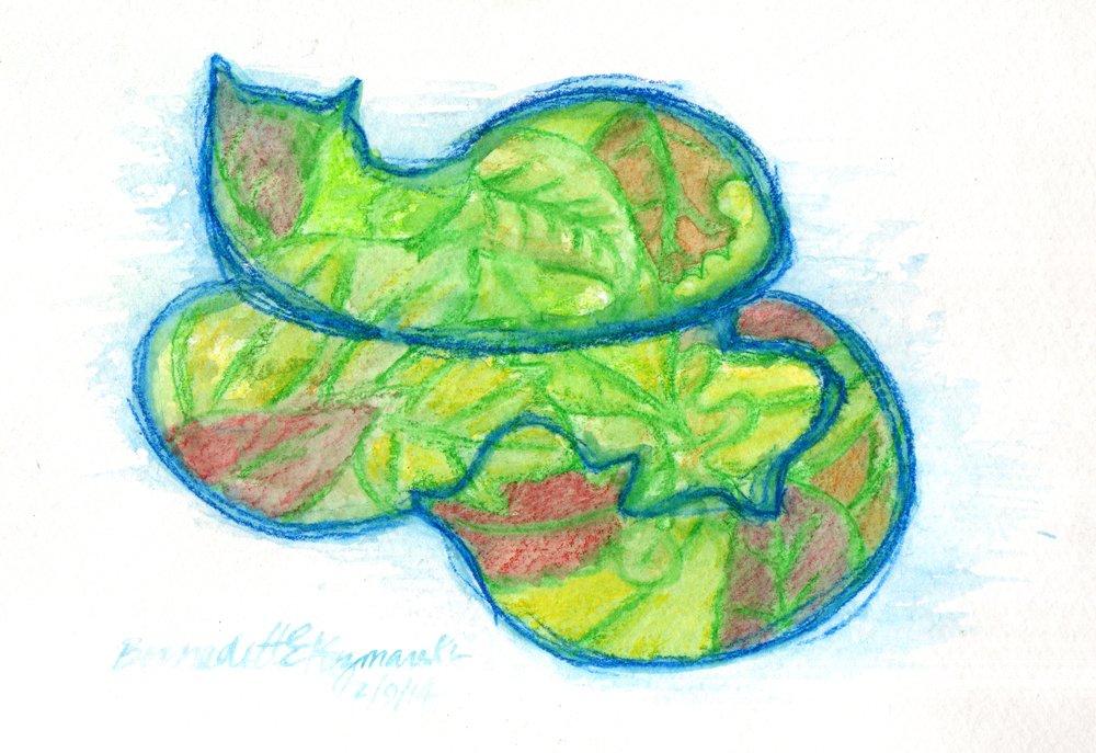 Daily Sketch Reprise: Leaf Cats, 2014