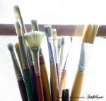 Brushes waiting for action.
