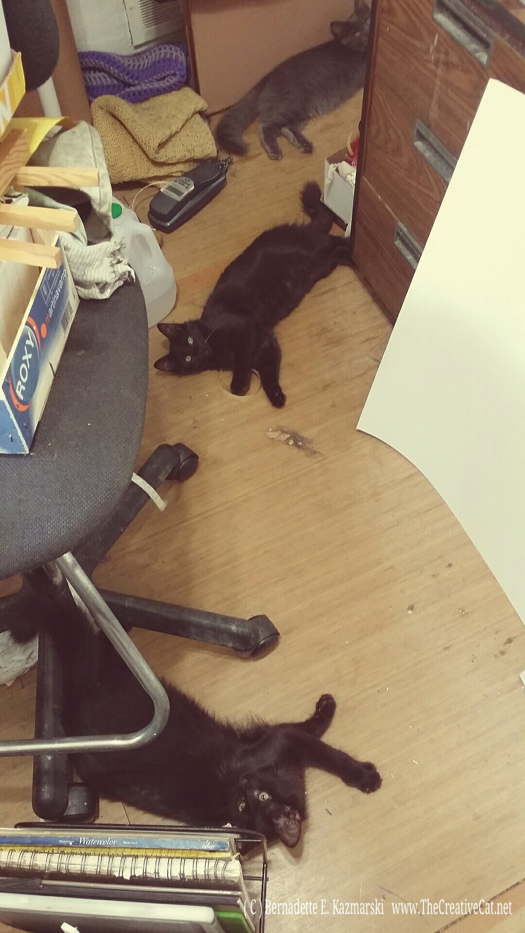My studio supervisors, learning early.