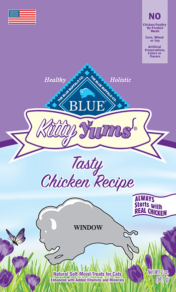 Blue Buffalo Company, Ltd. Recalls Kitty Yums Chicken Recipe Cat Treats