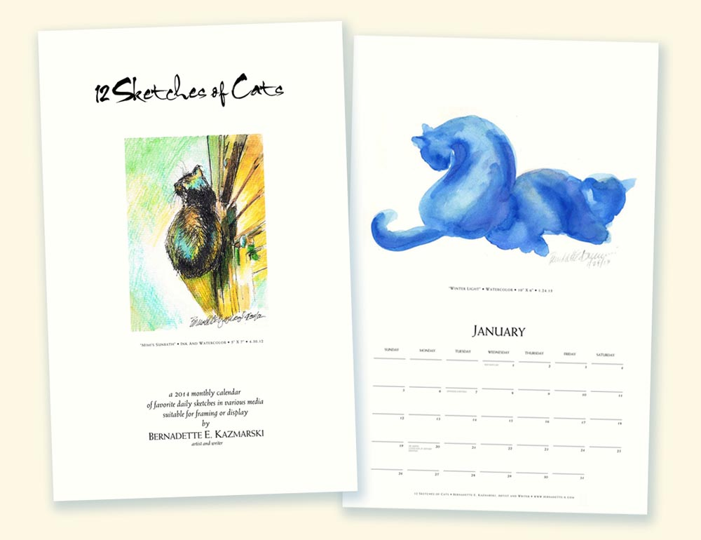 Marketplace: 12 Sketches of Cats 2014 Calendar