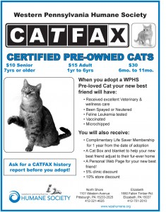 CAT FAX FROM THE WESTERN PENNSYLVANIA HUMANE SOCIETY