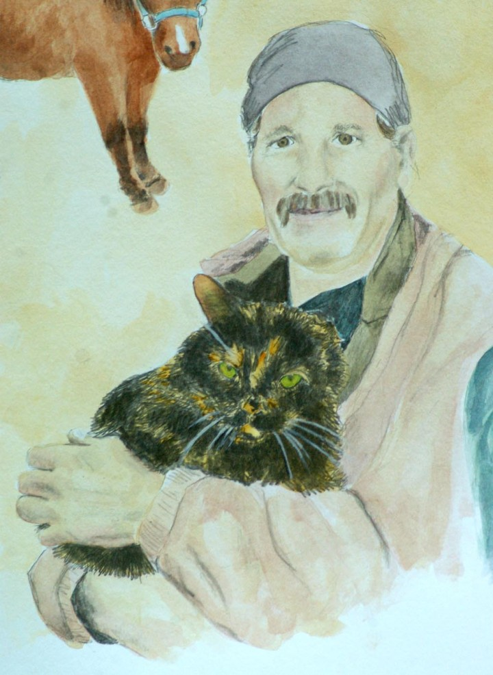 cat and person