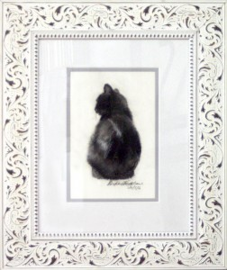 A Dozen Shades of Gray, matted and framed  B.E. Kazmarski