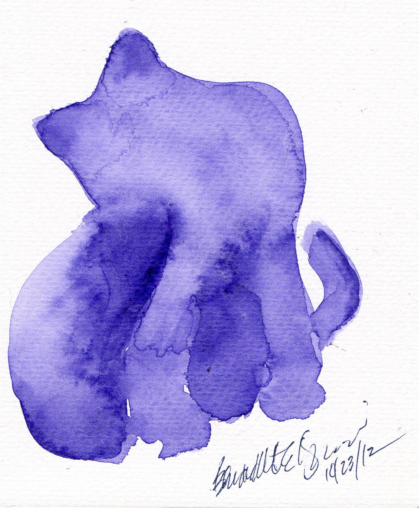 watercolor of cat