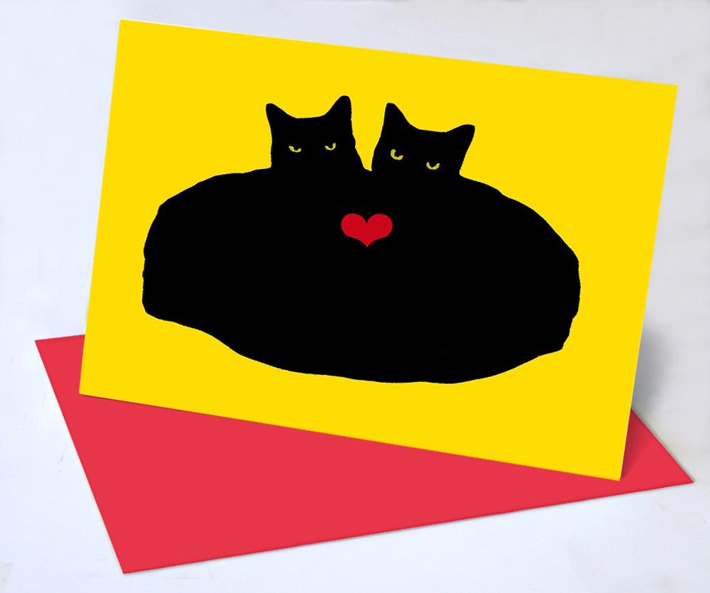 Valentine Cards for Cat Lovers, and Lovers with Cats