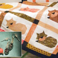quilt and earrings