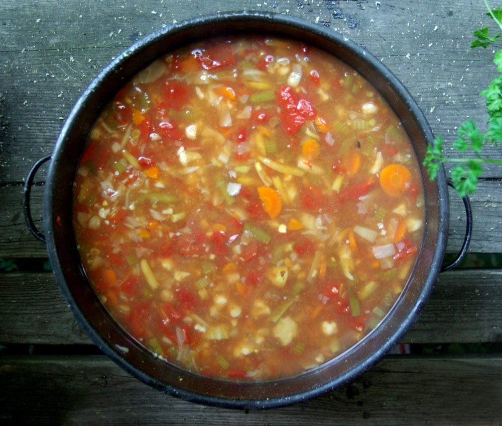 pot of vegetable soup