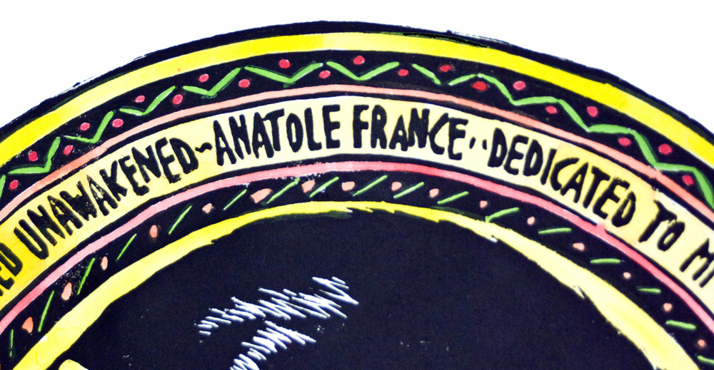 detail of text and border