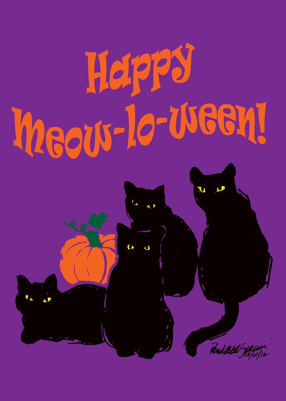 happy meowlowween