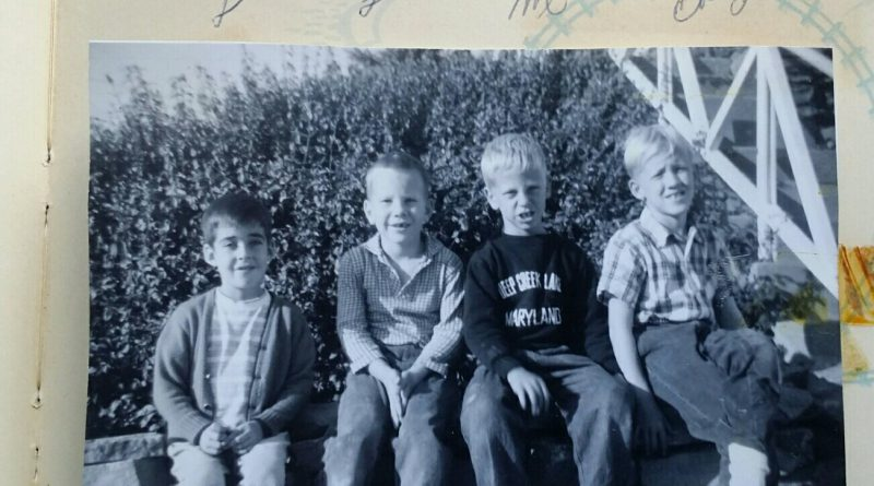 Lonnie, Lance, Mark and Ebby, best buddies in the nieghborhood, probably about 1964.