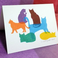 """""""Colorful Kitties"""" A-2 note cards."""