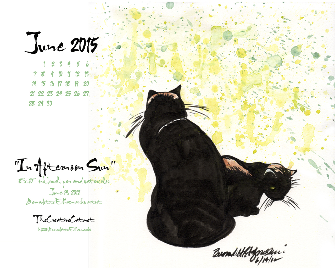 Free June Desktop Calendar