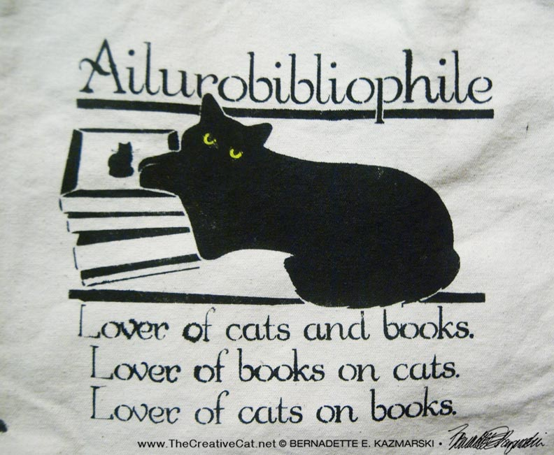The final Ailurobibliophile design.