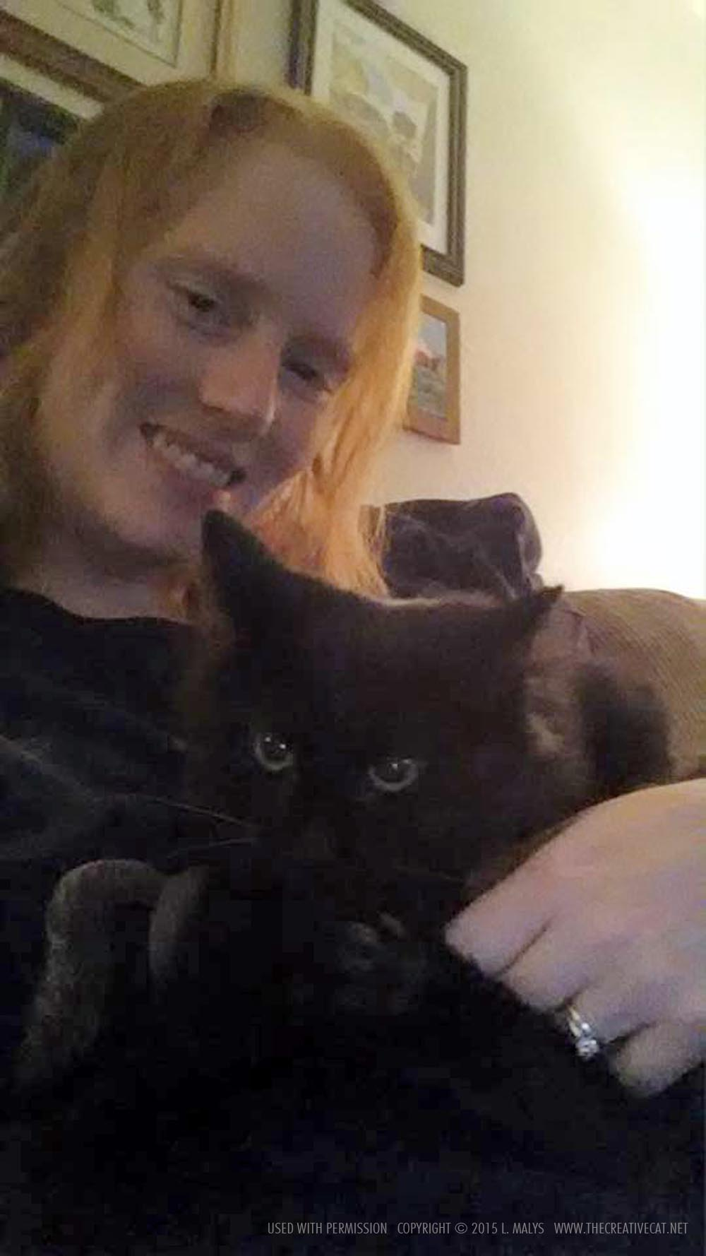 Selina with her person.