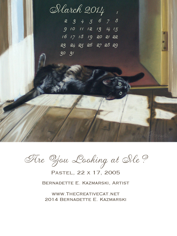 """Are You Looking At Me?"" desktop calendar for Kindle, iPad and small mobile devices."
