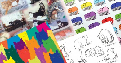 Feline-themed Art Papers
