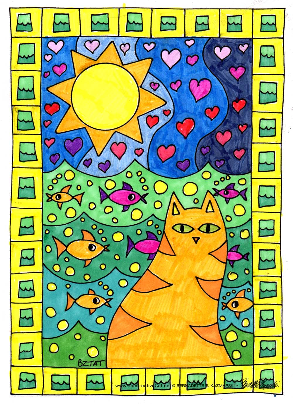 "Book Review: ""Color Me Cats"" by Artist BZTAT, Review and Giveaway"