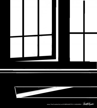 The cleaned up sketch of the window.