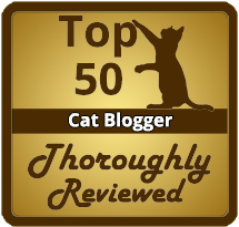 Top 50 Cat Blogger on Thoroughly Reviewed