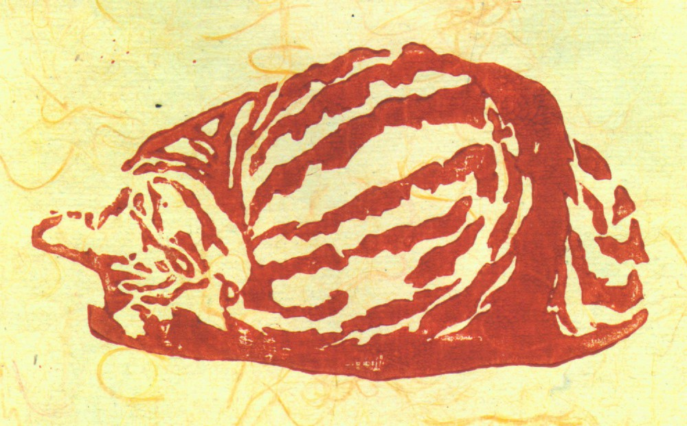 Featured Artwork: Fawnball, and the Tabbies Series of Block Prints