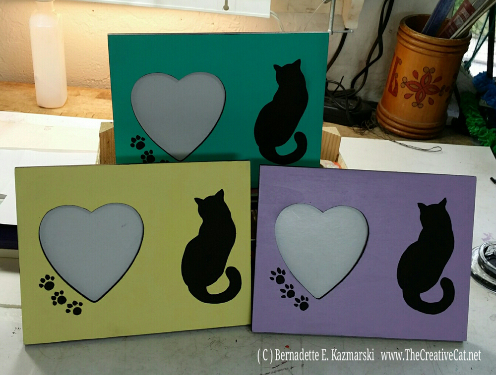 Hearts and Cats Photo Frames