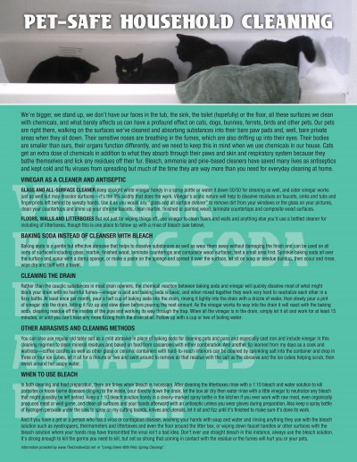 pet safe household cleaning tips