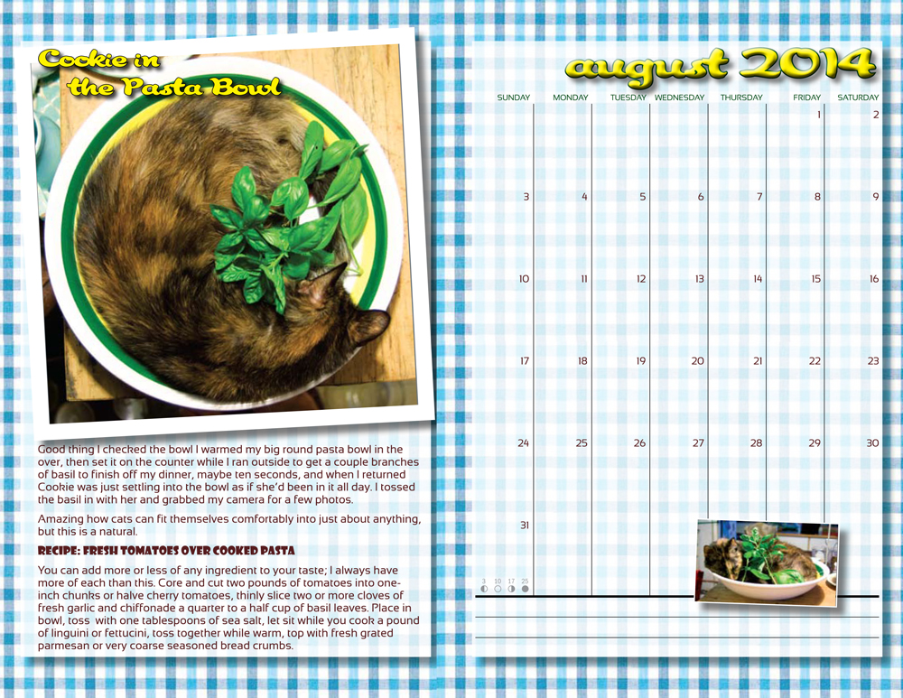 In the Kitchen With Cookie for August 2014
