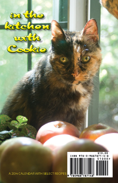 """How Do You Like Them Apples?"" In the Kitchen With Cookie calendar back cover"