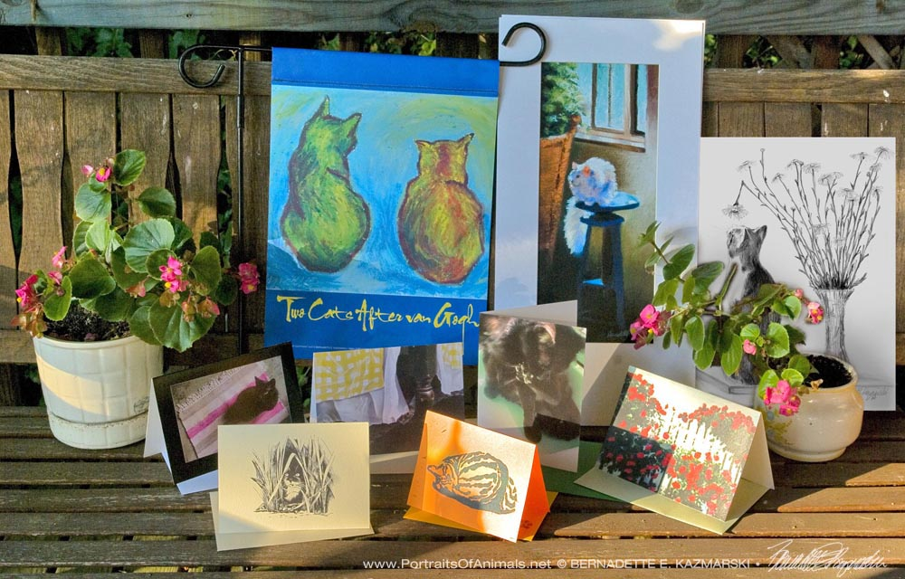 A view of the July 2016 Feline Sampler Box.