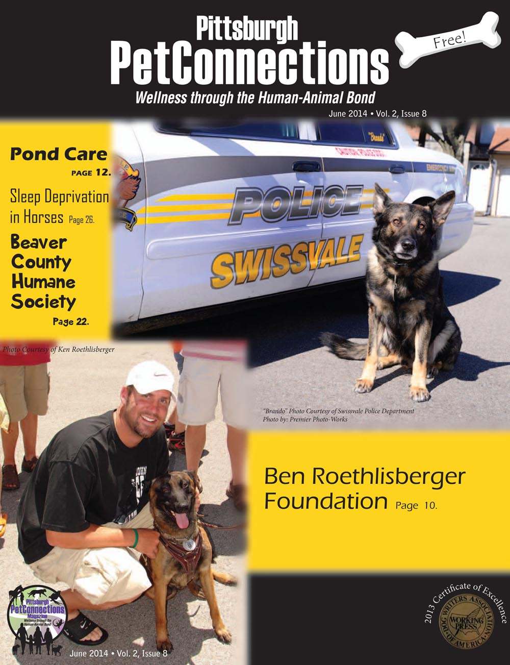 June 2014 issue of Pittsburgh PetConnections magazine.