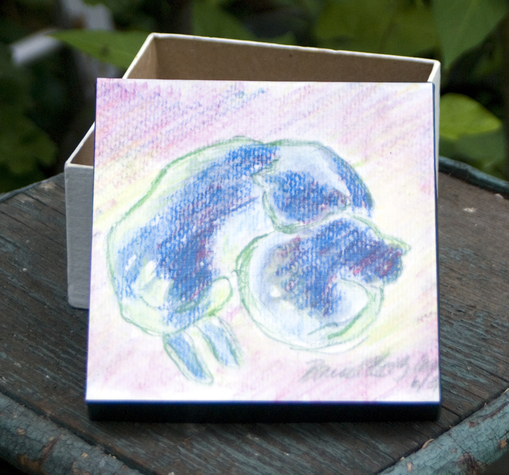"""""""Mother and Daughter, Sun and Shadow"""" 6x6 Keepsake box."""