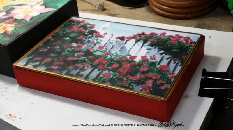 """A very small keepsake with """"Red Climbers""""."""