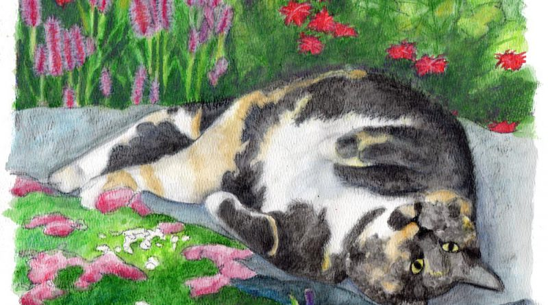 """Portrait of Keisha"", 11"" x 14"", watercolor © Bernadette E. Kazmarski"