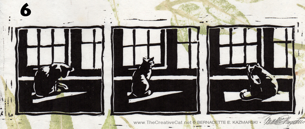 "Featured Artwork: ""Kelly's Morning Bath"" Block Print on Handmade Papers"