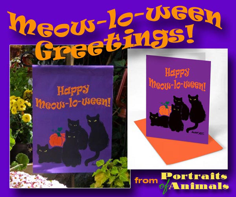 It's Almost Time for Meow-lo-ween, and Madame Mewsette and the Three Witches!