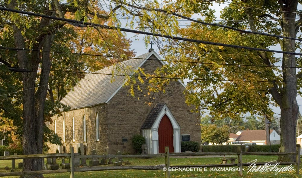 Old St. Luke's Church, the oldest US church west of the Allegheny Mountains, established in 1765.