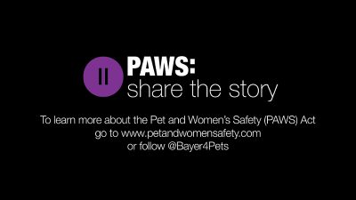 To learn more about the Pet and Women Safety Act go to www.petandwomensafety.com (PRNewsFoto/Bayer)