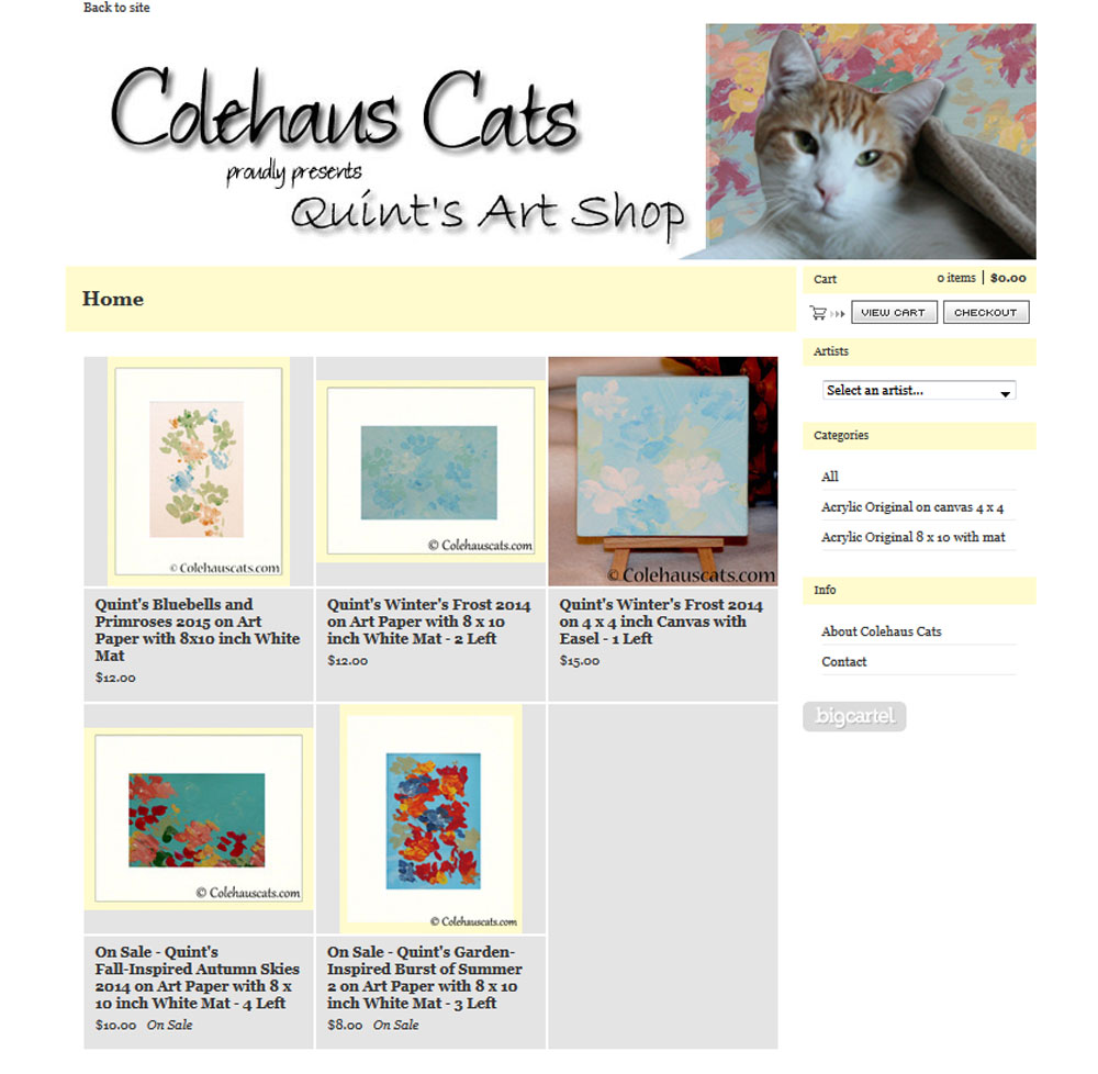 Quint's art for sale.