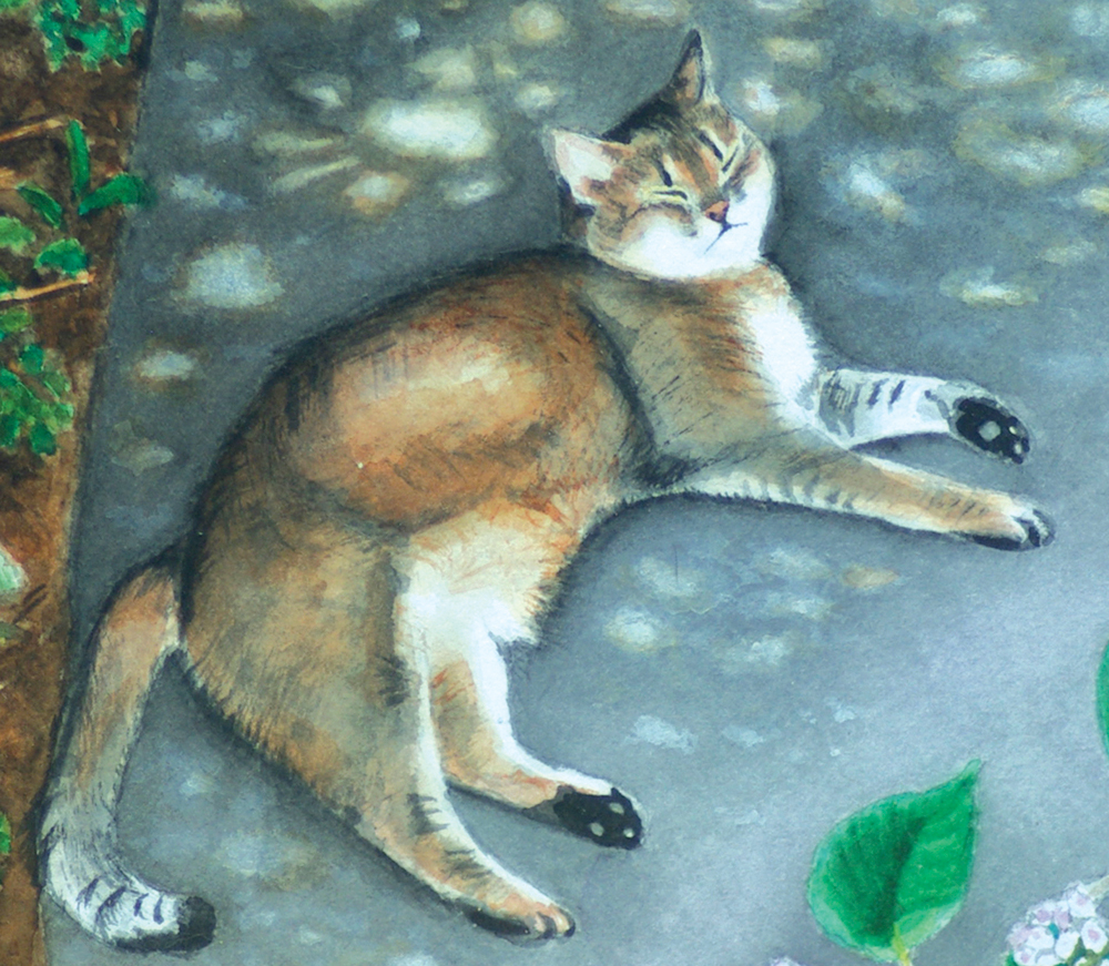 watercolor of abyssinian cat