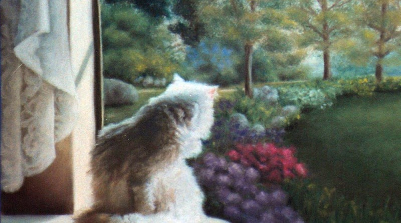 The left portion of the painting that will fit into standard frame and canvas sizes.