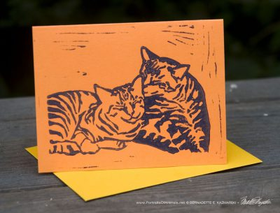 "Tabbies note cards, ""Brights"", Let Me Clean You Up."