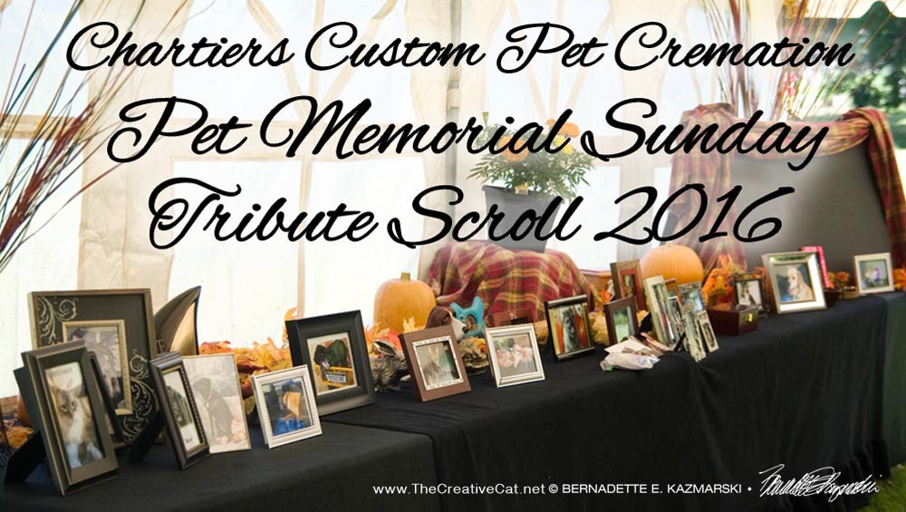 The 2016 Tribute Scroll