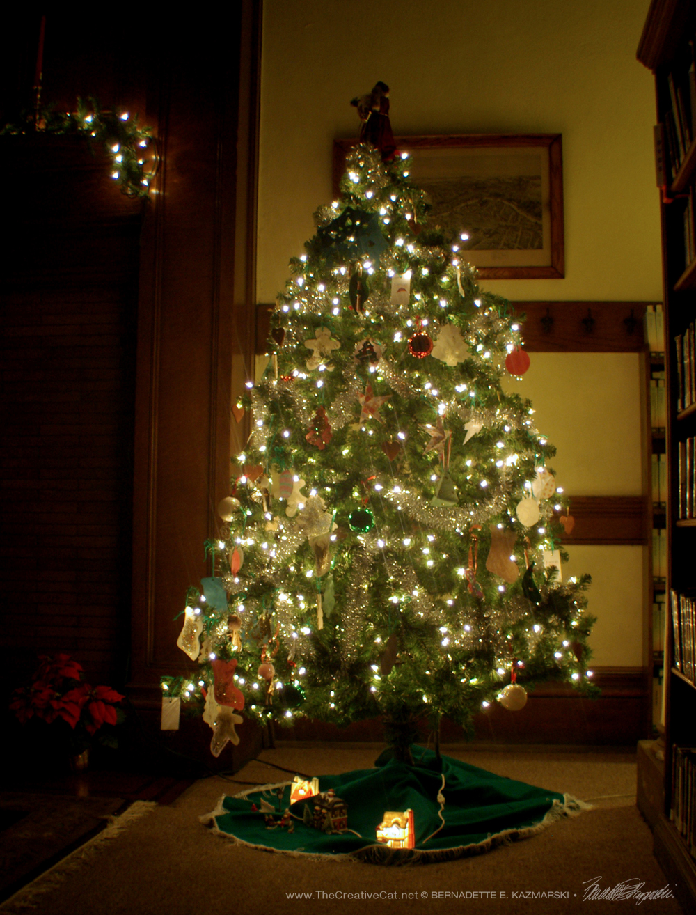 Photo of the library's tree.