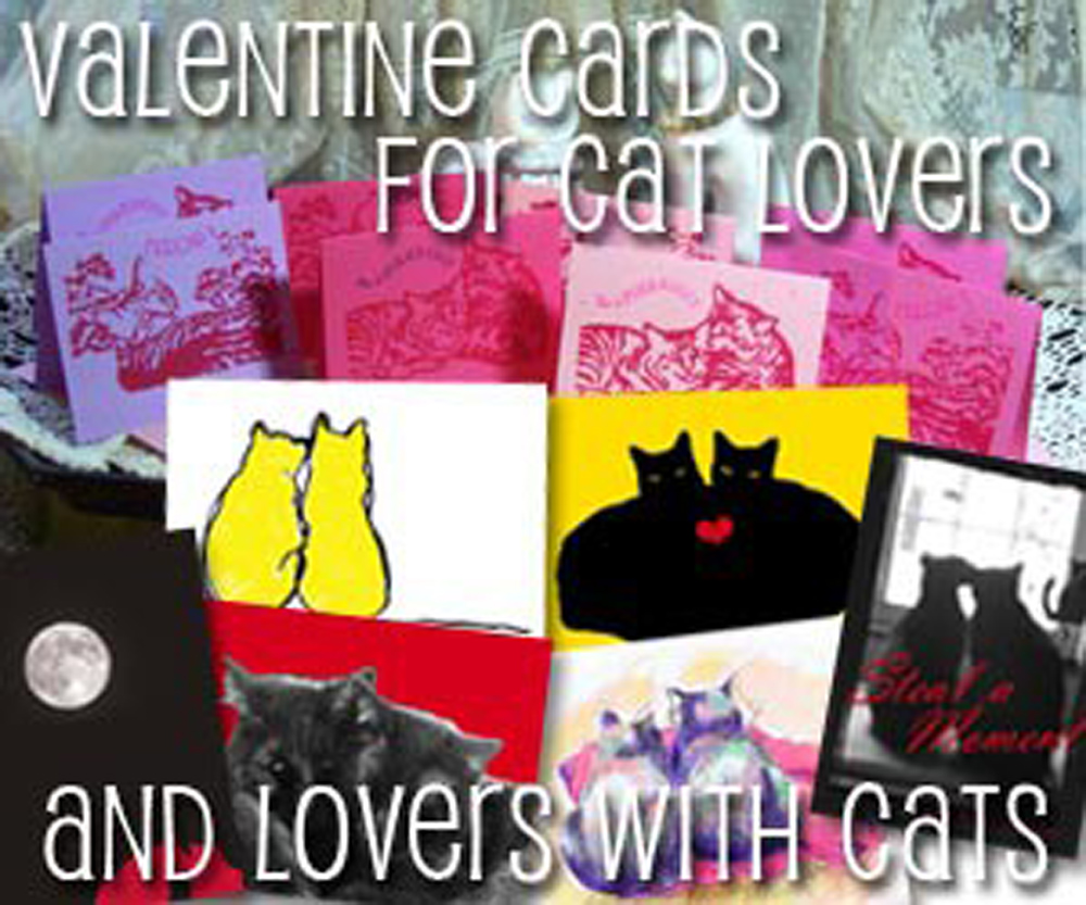Valentine cards for cat lovers!