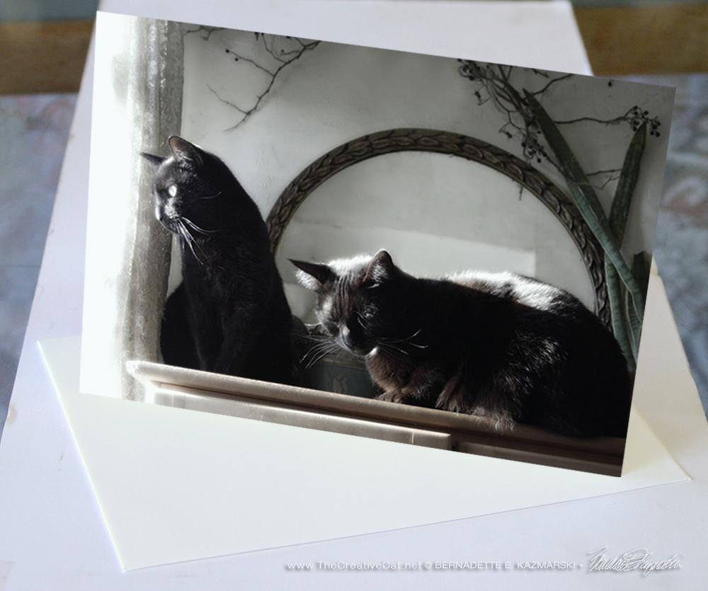 Victoriana Cats, sample card.