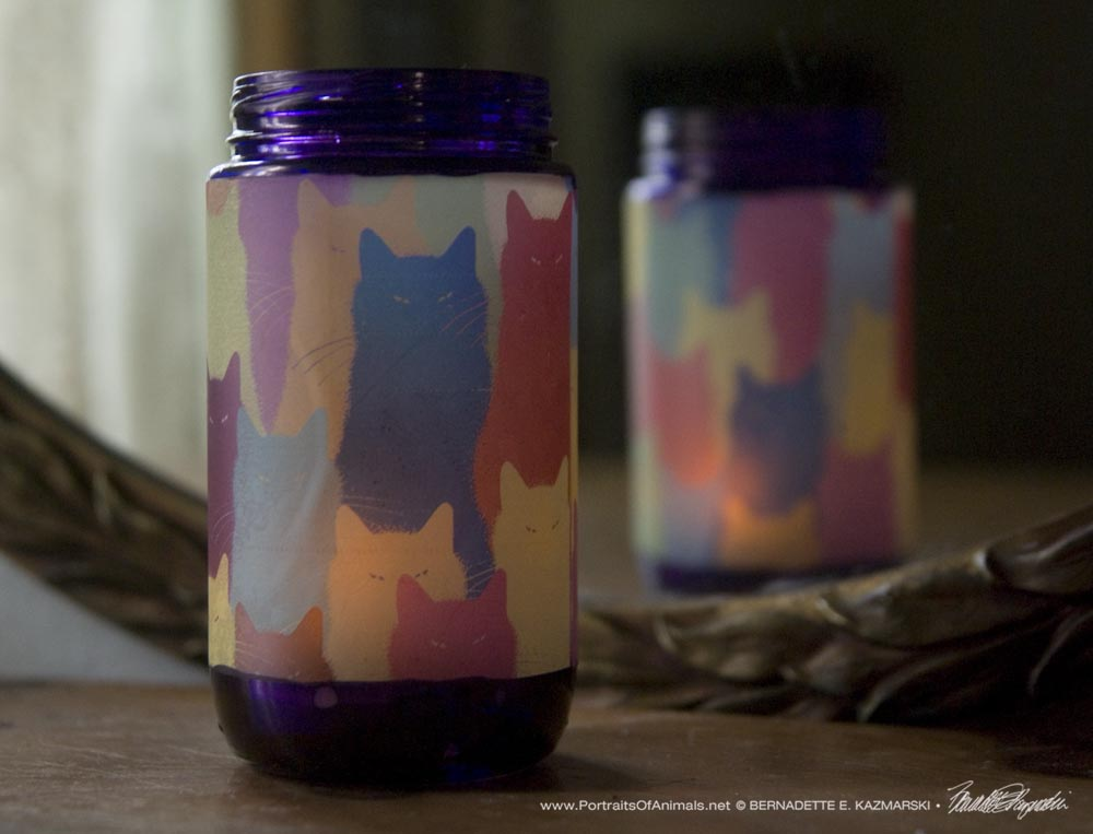 Inscrutable Patterns Feline Votive