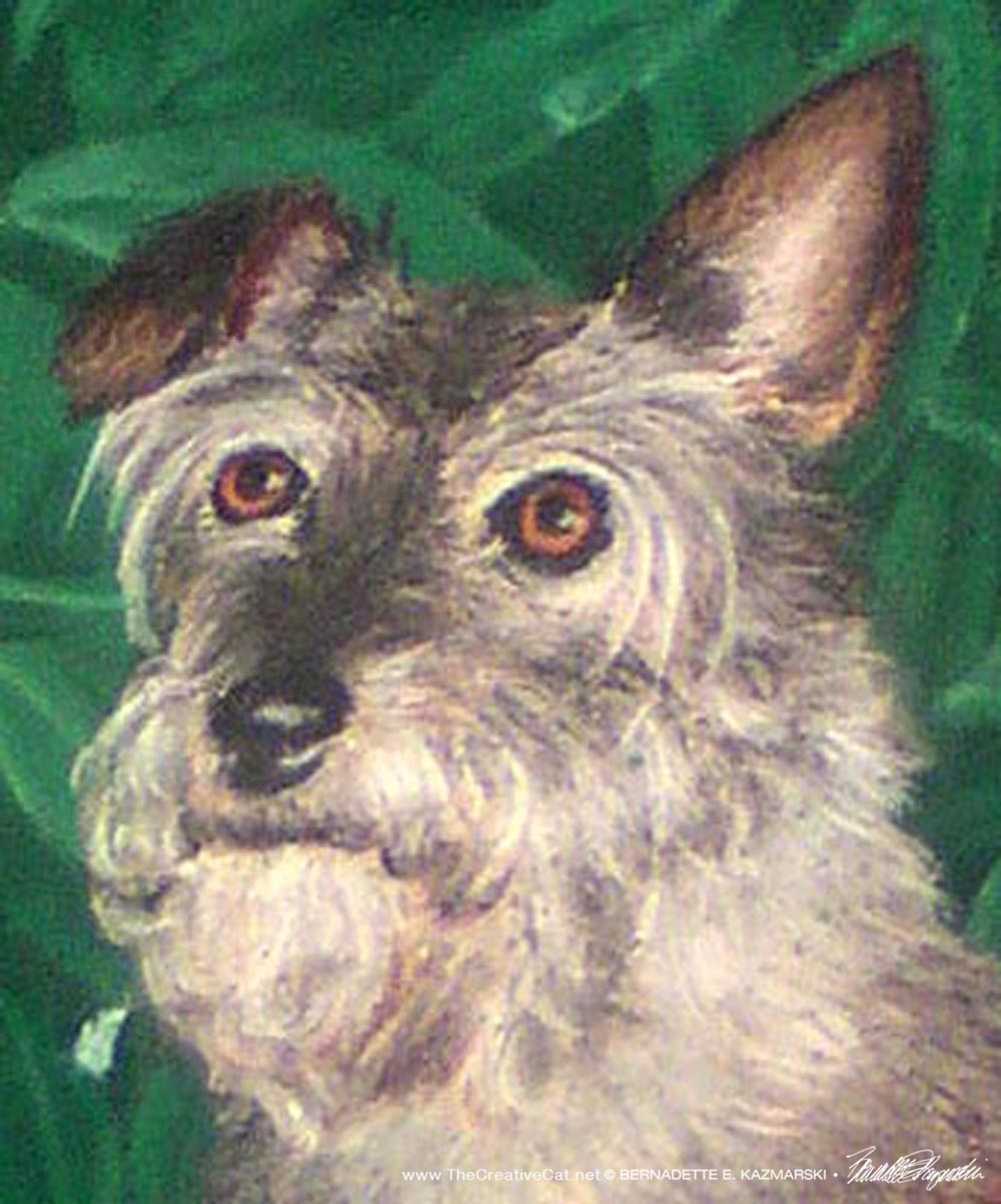 Detail of Corky's face