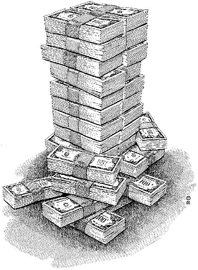 Money stack clip art from the mid 80s.